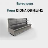 Пристеная холодильная витрина Freor DIONA QB H1/H2